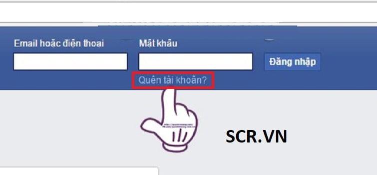 Đầu tiên các bạn truy cập vào trang chủ của Facebook