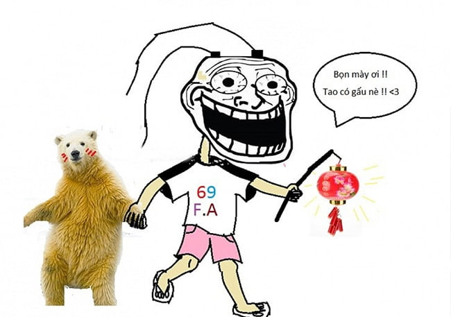 Ảnh chế bọn mày ơi tao cũng có gấu