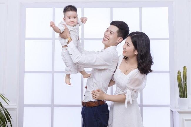 Ảnh gia đình 3 người