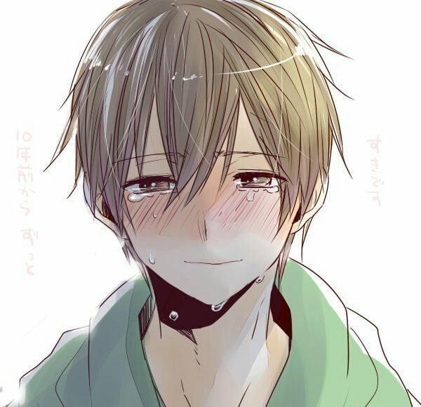 Anime boy buồn khóc