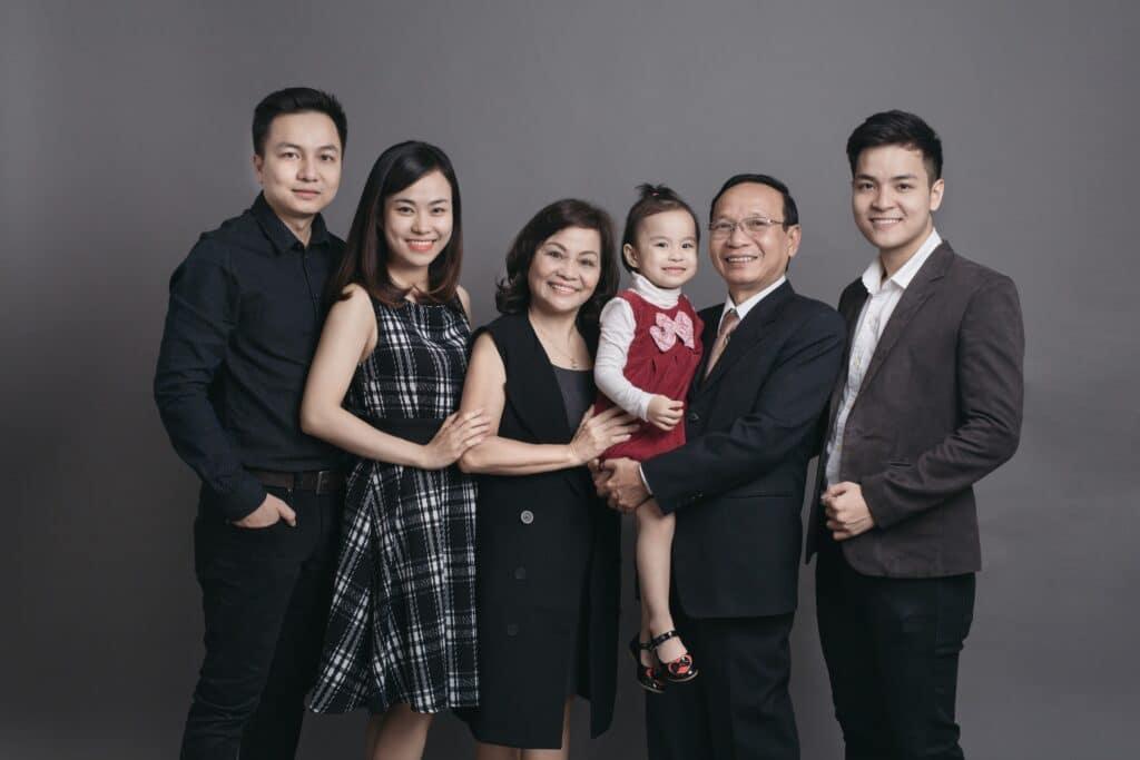 Hình chụp chân dung gia đình