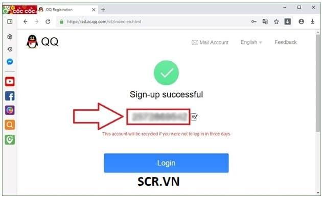 Bước 5 đăng ký QQ