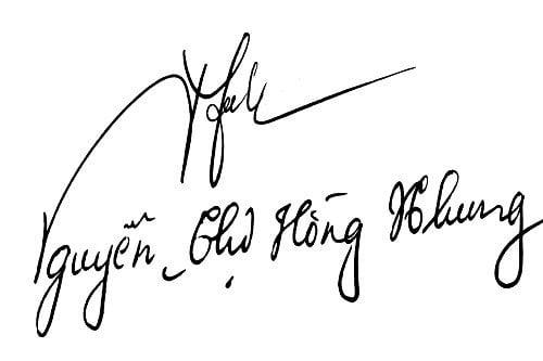 Chữ ký tên Nhung