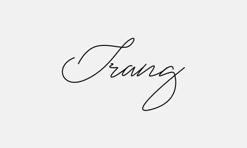 Chữ ký tên Trang lạ
