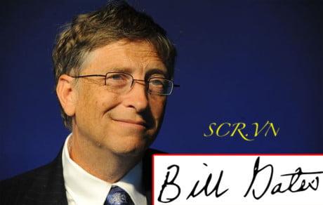Mẫu Chữ Ký Bill Gate - Chủ tịch tập đoàn Microsoft