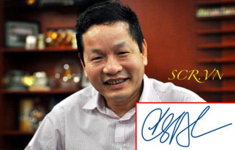 Mẫu Chữ ký của Trương Gia Bình - Chủ tịch tập đoàn FPT Việt Nam