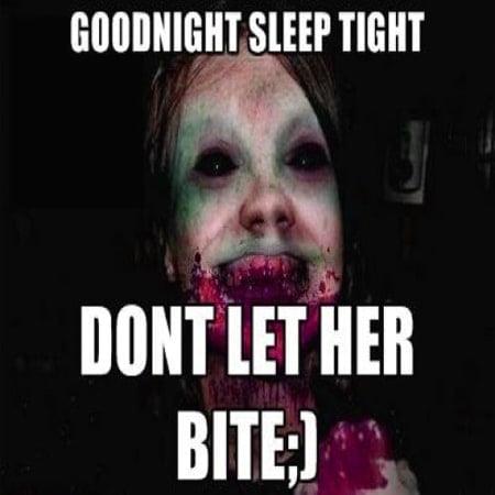Hình chúc ngủ ngon siêu kinh dị