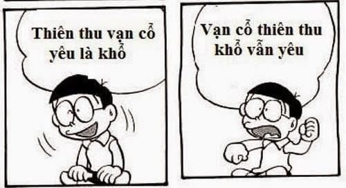 Hình chế thơ Nobita hài hước