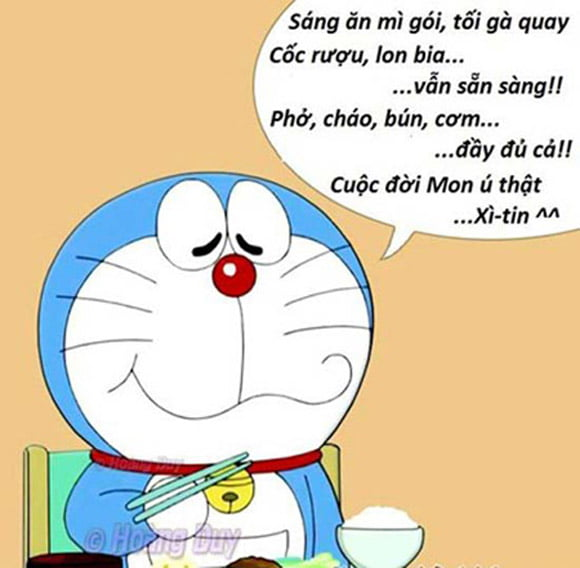 Hình mèo ú doremon làm avatar