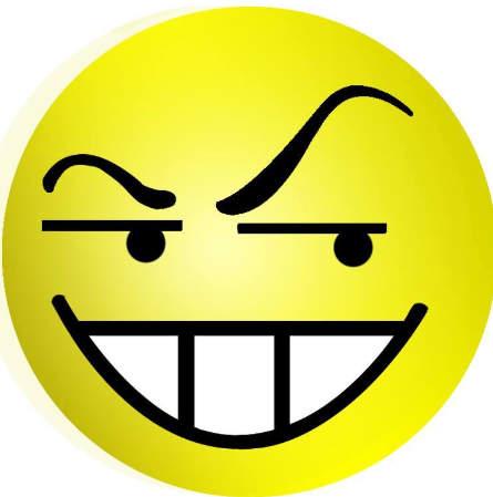 Hình mặt cười đểu nguy hiểm