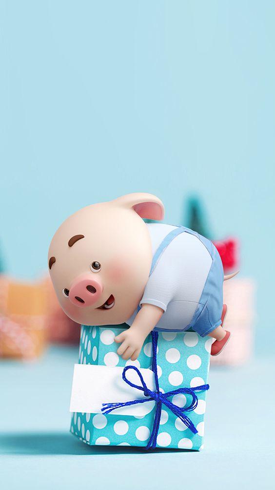 Hình nền lợn con cho điện thoại