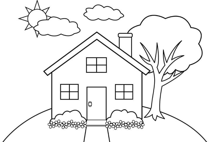 Hình ngôi nhà đơn giản