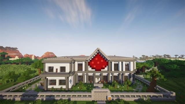 Hình nhà đẹp trong minecraft