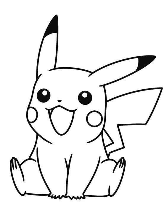 Hình tô màu Pikachu đẹp