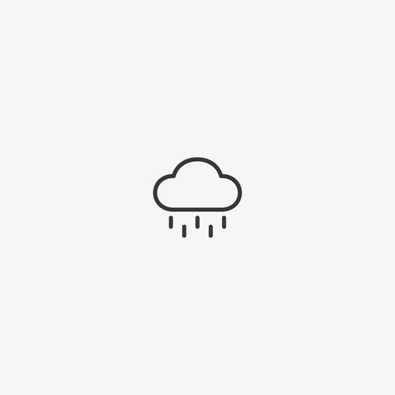 Hình vẽ đám mây mưa đơn giản nhất