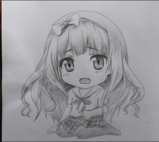 Hình vẽ đáng yêu về cô bé