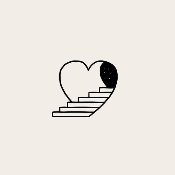 Hình vẽ đơn giản cực đáng yêu về trái tim tình yêu