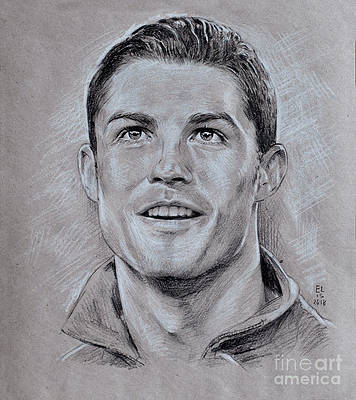 Hình vẽ Ronaldo bằng bút chì cực đẹp