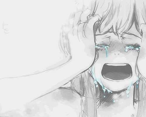 Hình vẽ buồn khóc thật to