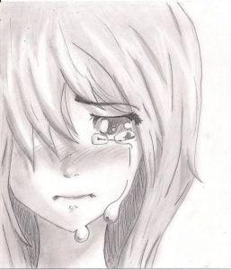 Hình vẽ buồn khóc