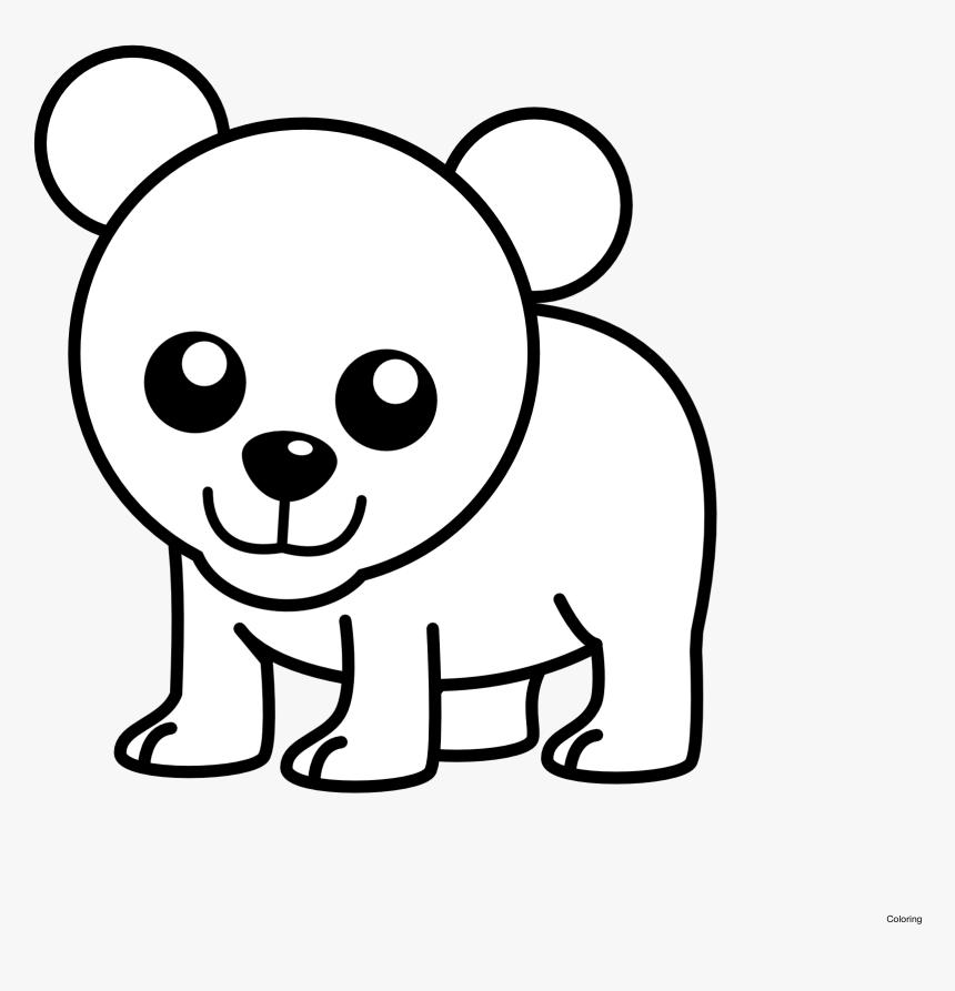 Hình vẽ cực đơn giản về chú gấu dễ thương