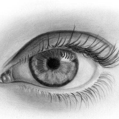 Hình vẽ con mắt cực đẹp bằng bút chì