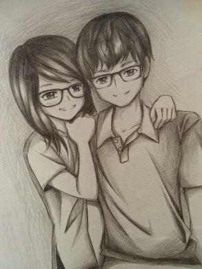 Hình vẽ dễ thương bằng bút chì