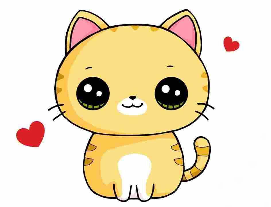 Hình vẽ mèo dễ thương