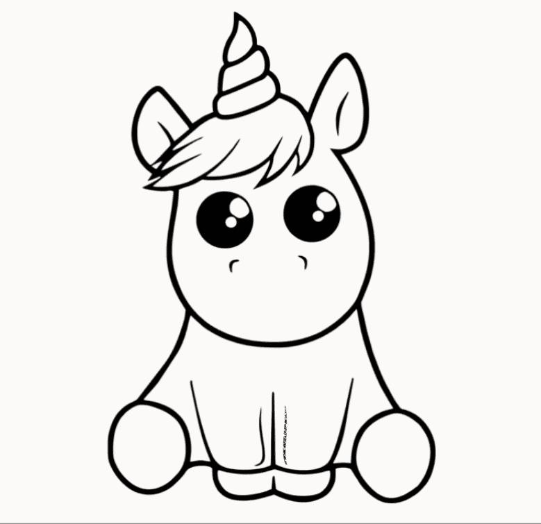 Hình vẽ unicorn đơn giản
