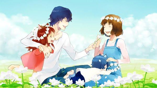 Hình gia đình anime đẹp