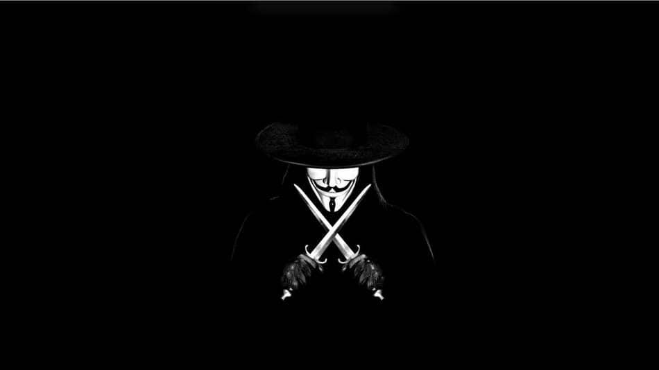 Hình hacker anonymous chát