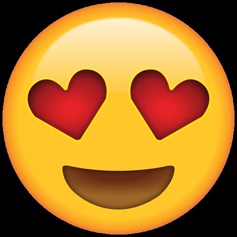 Icon mặt cười tim