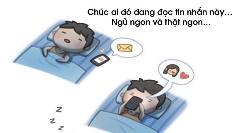 Lời chúc ngủ ngon hài hước dễ thương