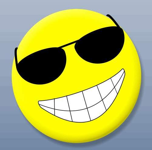 Mặt cười đeo kính chế