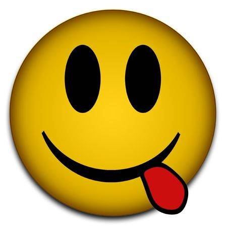 Mặt cười le lưỡi