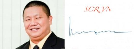 Mẫu Chữ Ký Tay Ông Lê Phước Vũ - Chủ tịch Hoa Sen Group