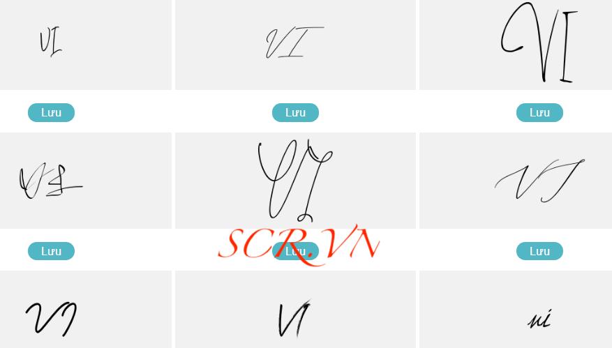 Mẫu chữ ký đẹp tên Vy - Vĩ