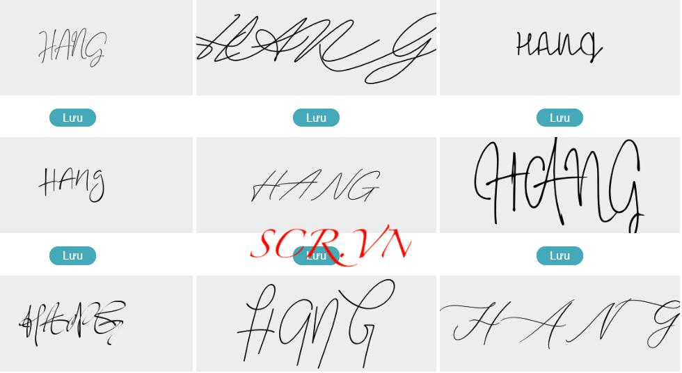 Mẫu chữ ký đẹp tên hằng
