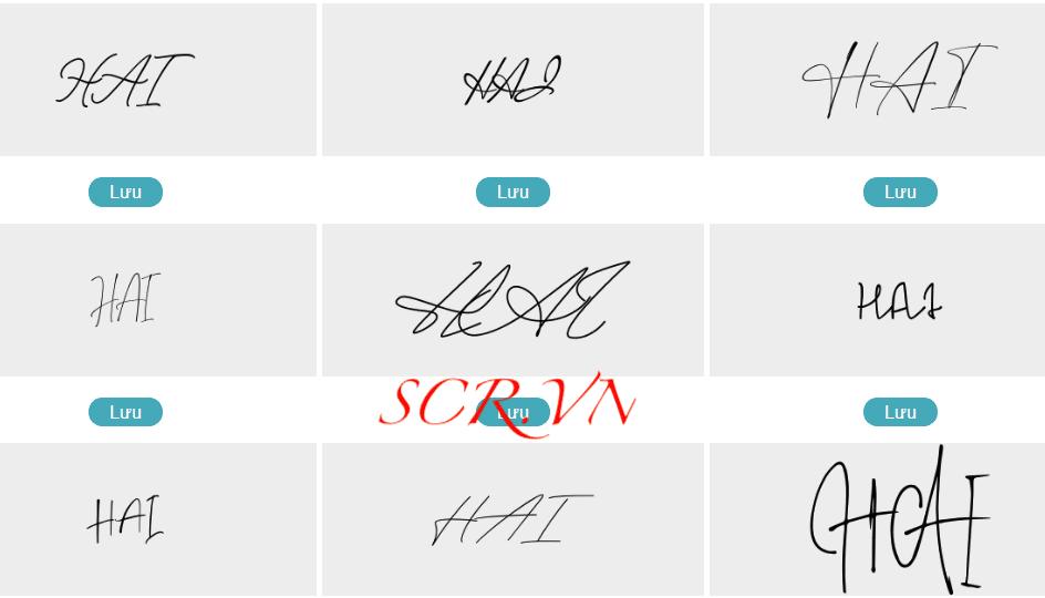 Mẫu chữ ký đẹp tên hải