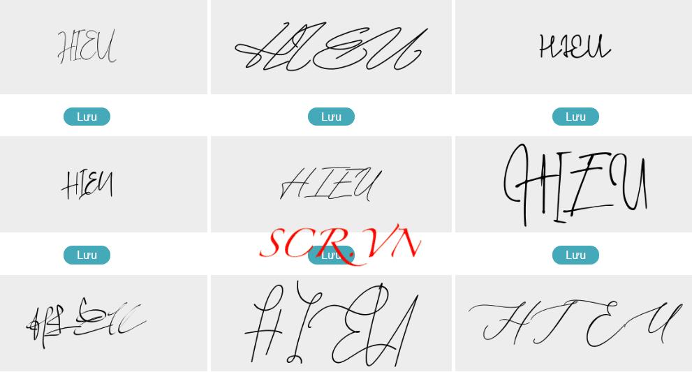 Mẫu chữ ký đẹp tên hiếu