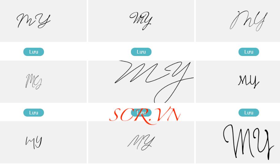 Mẫu chữ ký đẹp tên my - mỹ - mĩ