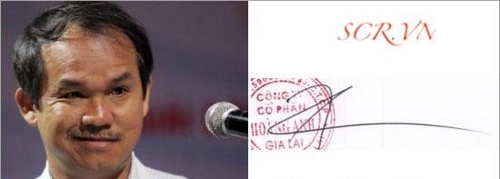 Mẫu chữ ký của ông Đoàn Nguyên Đức - Chủ tịch tập đoàn Hoàng Anh Gia Lai