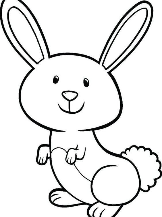 Tranh con thỏ cute