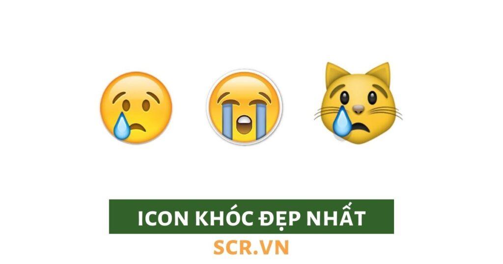 icon khóc đẹp