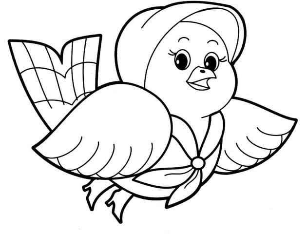 Ảnh con gà tô màu
