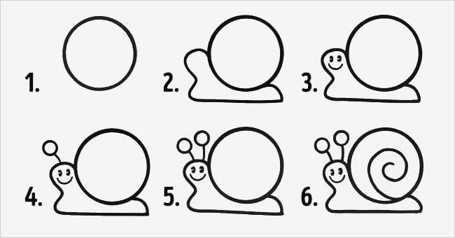 Hình ốc sên đơn giản