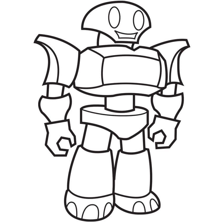 Tổng hợp các bức tranh tô màu Robot dành cho bé trai
