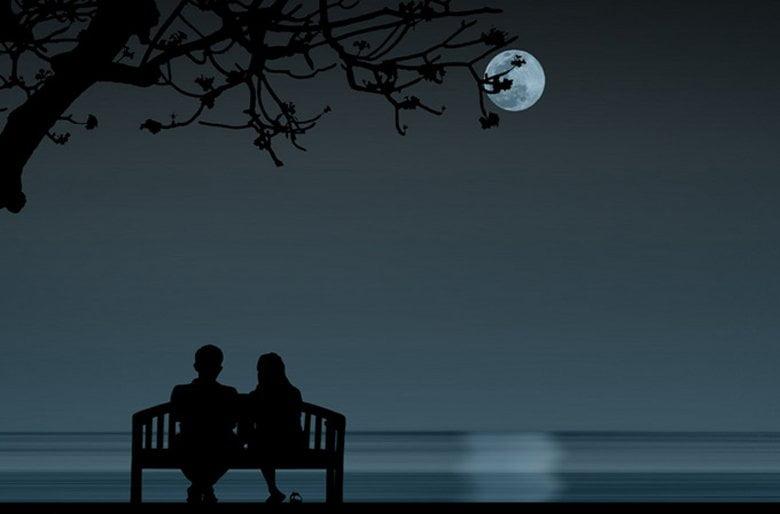 Bầu trời trăng đẹp lãng mạn