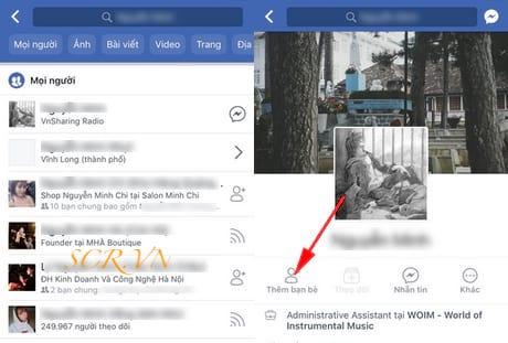 Chọn danh sách tên tài khoản fb