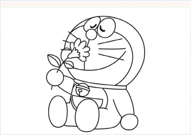 Hình Doremon dễ thương cho bé tập tô